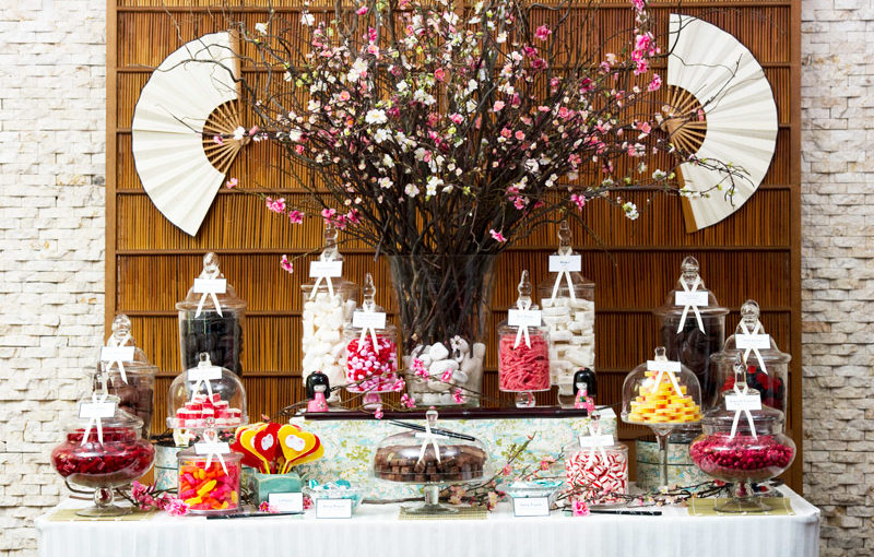 Japan Themed Kosher Bat Mitzvah Lolly Buffet - Candy Buffet Company