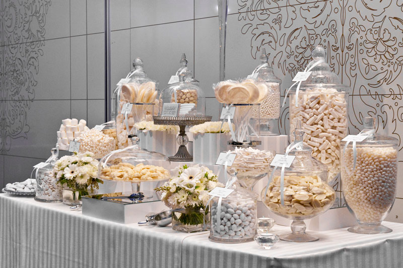 The Original White Lolly Buffet from The Candy Buffet Company