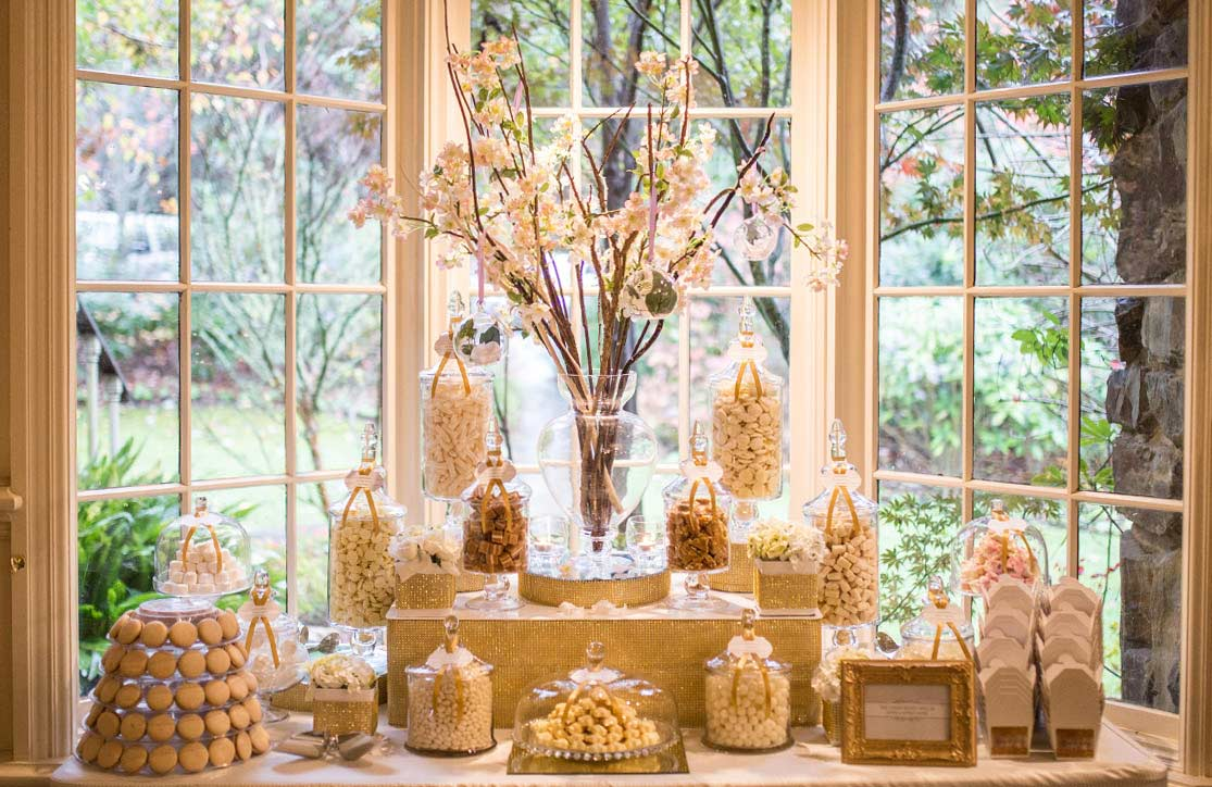 The Candy Buffet Company Custom Golden Candy Buffet