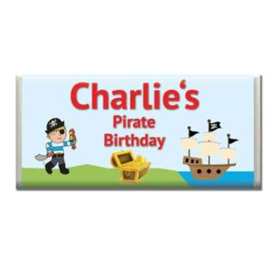 Custom Pirate Birthday Chocolate Bar