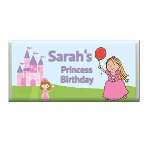 Custom Princess Birthday Chocolate Bar