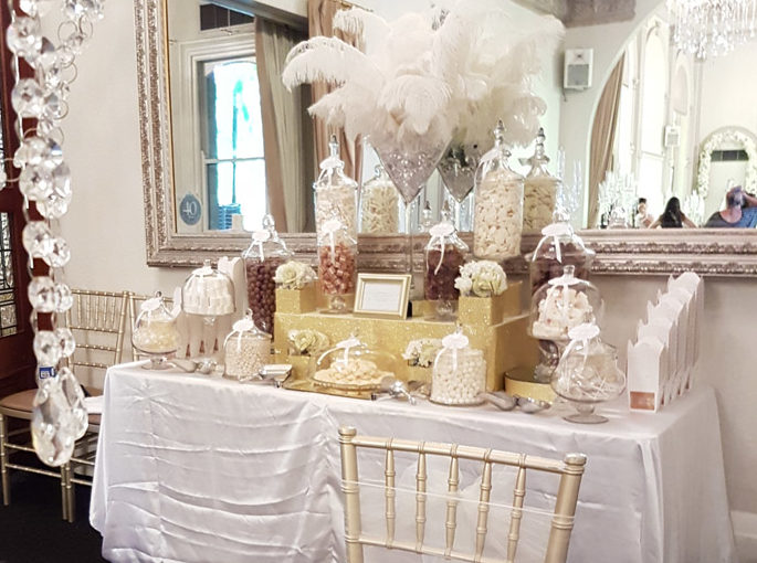 White and Gold Candy Buffet - Curzon Hall Sydney NSW